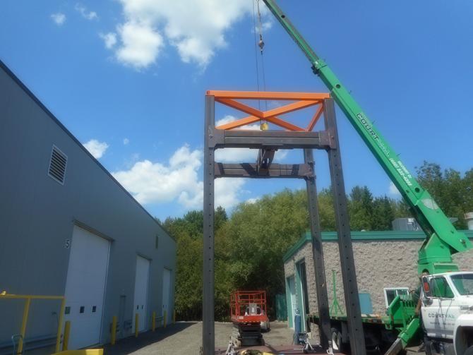 100-ton test bench