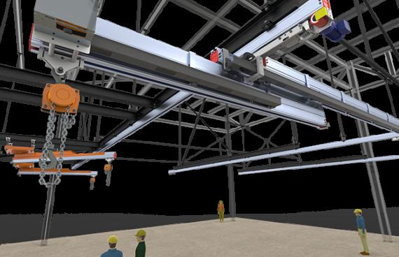 13AI1 - Pont roulant motorisé grande dimension, GE Bromont 4