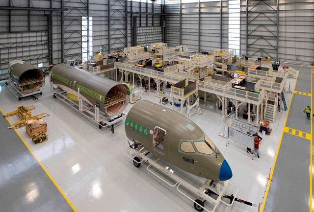 Plateforme d'assemblage de fuselage