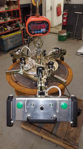 Manipulateur pneumatique à tuyau pluviale