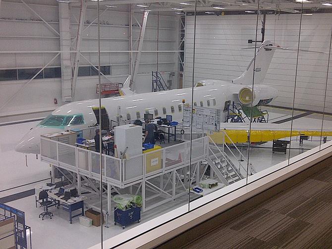 Plateforme d'assemblage d'avion