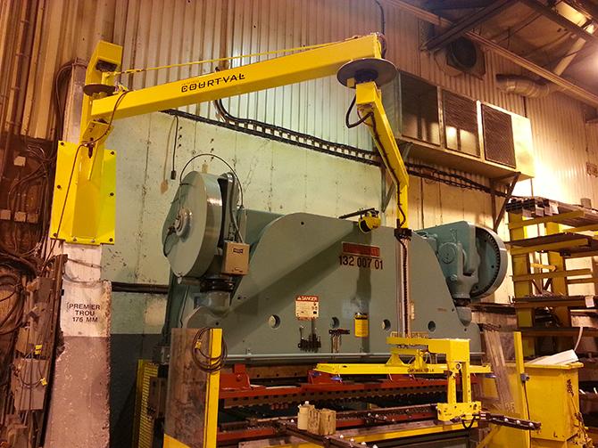Pneumatic pivoting steel sheet manipulating system